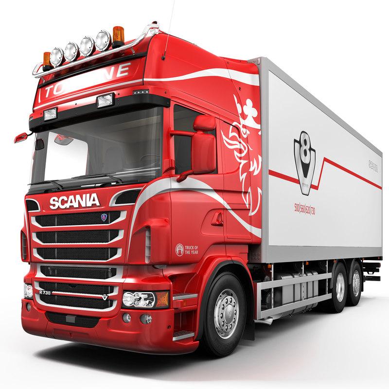 3d max scania r730 6x2
