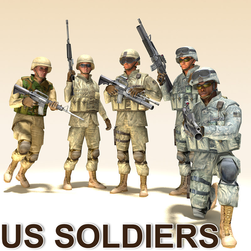 soldiers m16 m4 max