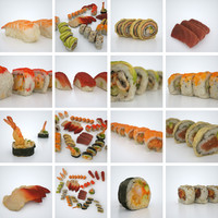 3d model sushi photorealistic