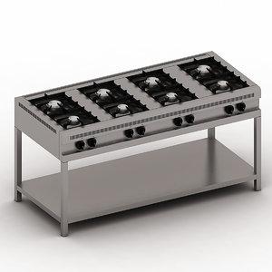 3d burner 8 stainless model