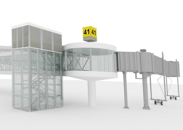 airport passenger bridge 3d max