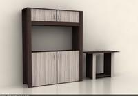 3d living room cabinet credenza