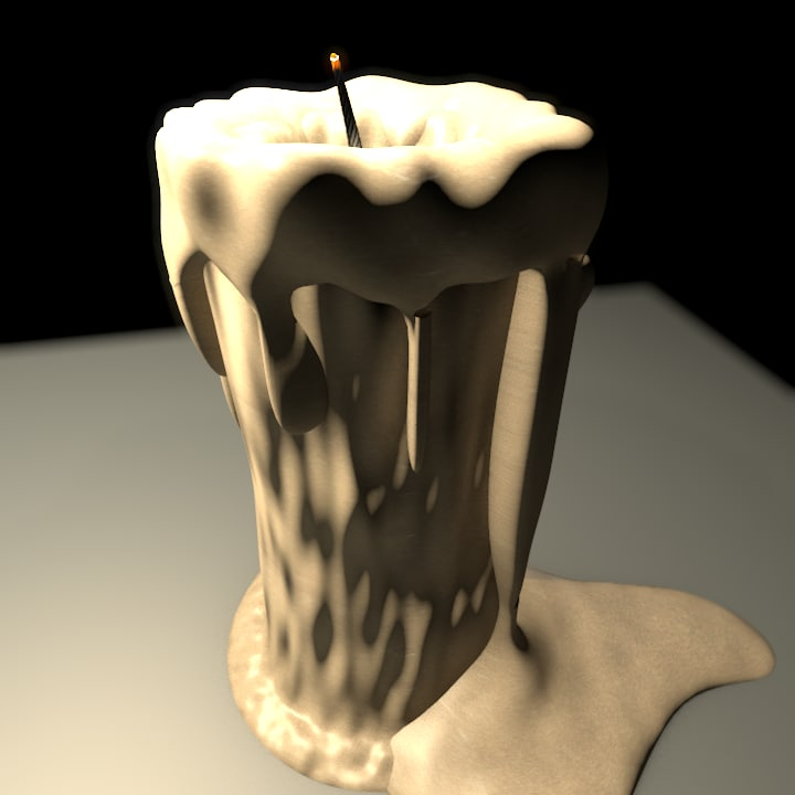 candle 3d 3ds