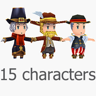 3d 15 characters