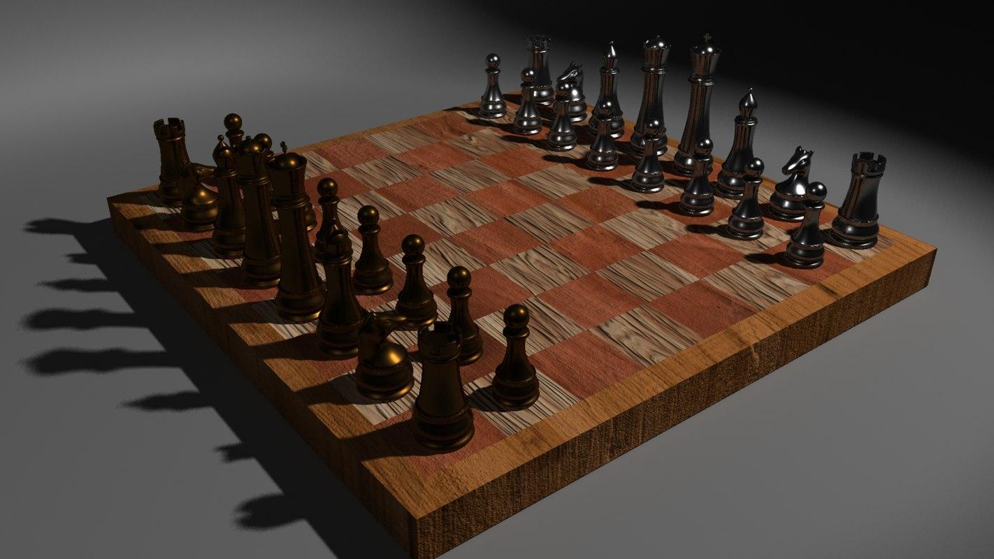 maya metal chess set