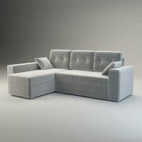 3d corner sofa natali model