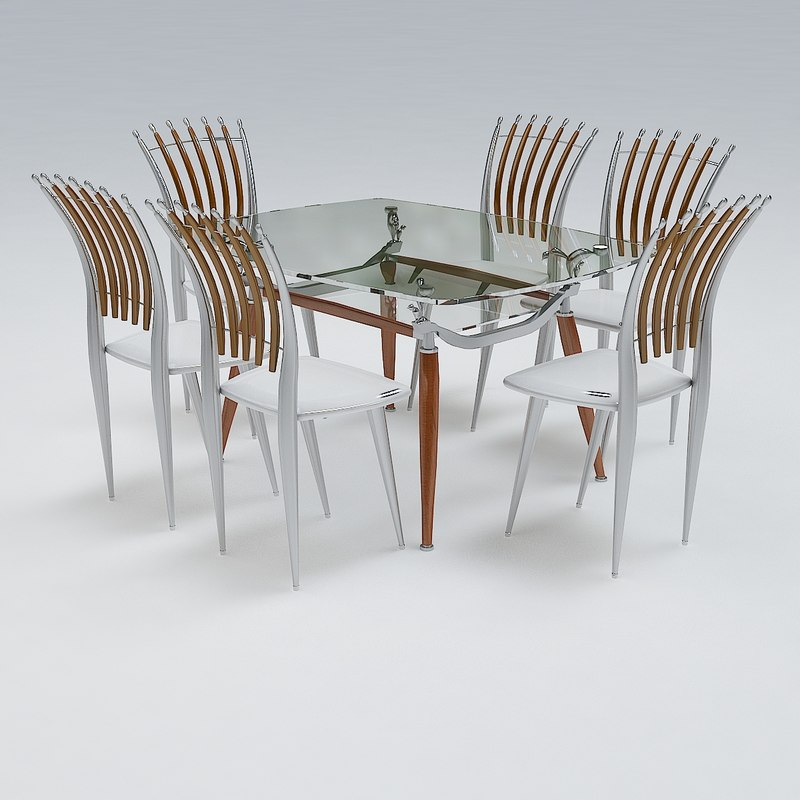 3ds max chair table set