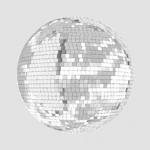 disco ball light 3d max