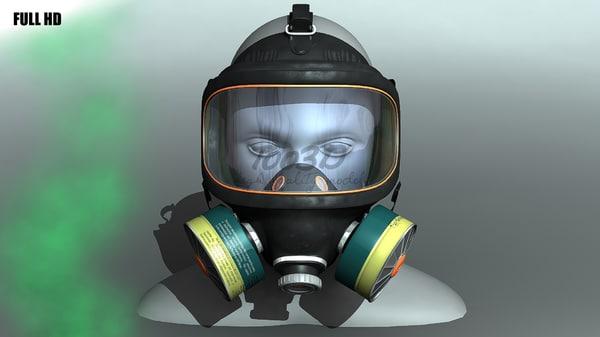 3d mask gas