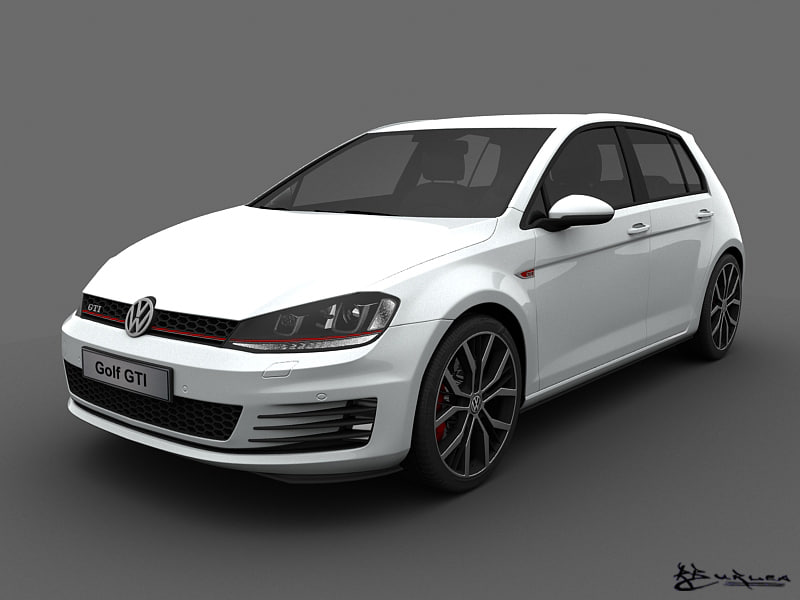 3ds max volkswagen golf gti 5