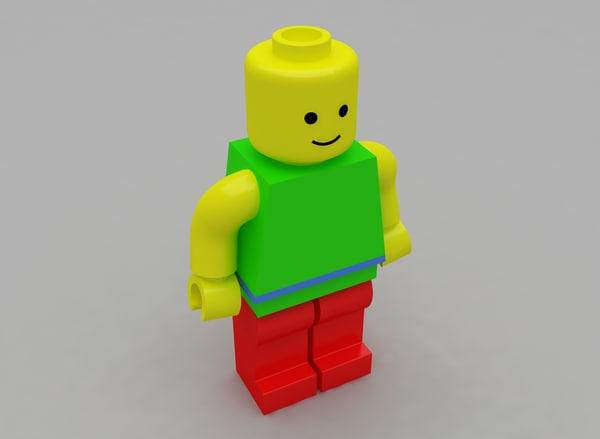 lego human 3d model
