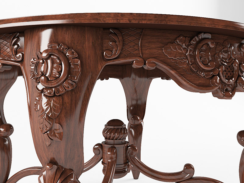 classic table 3d max