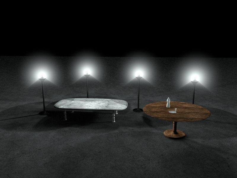 livingroom table c4d free