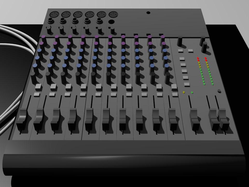 recording mixer obj