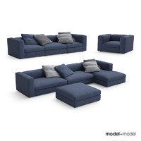 poliform dune sofas armchair 3d model