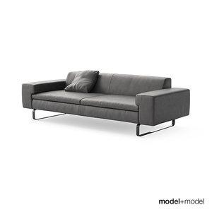3d arflex moods sofa armchair model