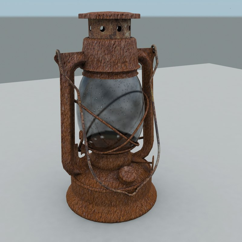 3ds max rusty old lantern