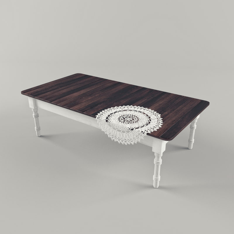 3d model wood table old