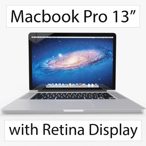 apple macbook 13 inch 3d c4d