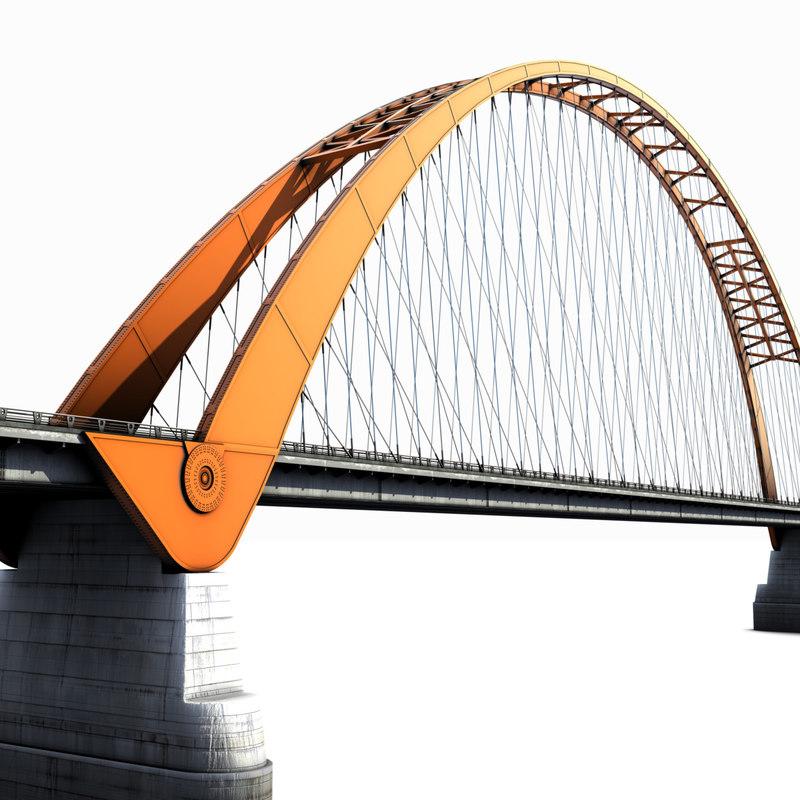 bridge river l 3d max