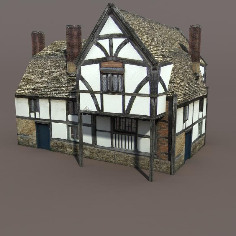 3d building exterior modelled model
