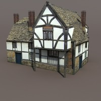 Medieval Building #112 Low poly 3d Model
