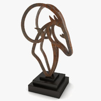 ram sculpture metal 3d max