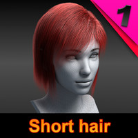 3ds max short hair style