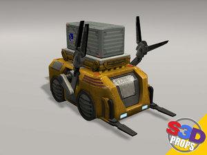 3d model sci-fi loader crate
