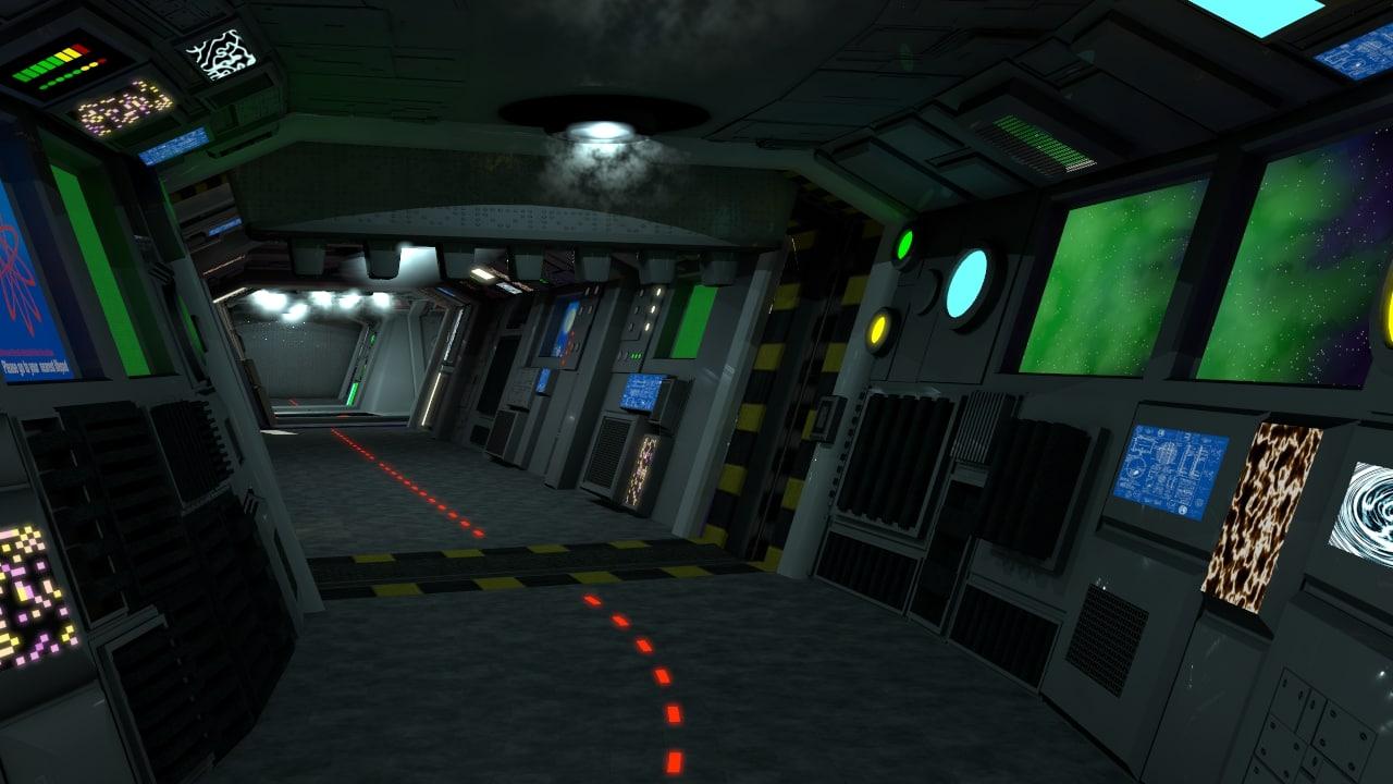 3d sci-fi corridors set model