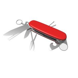 3d model knife swiss army