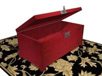 3d model trunk chest carpet