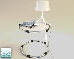 3d table foscarini lamp model