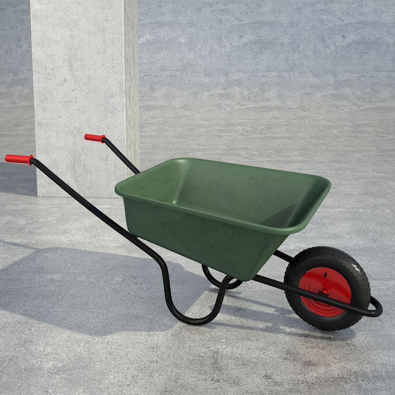 3d model builders wheelbarrow