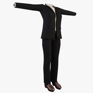 female suit 3d max
