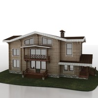 cottage wooden 3d 3ds