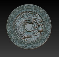 3d dragon chinese relief