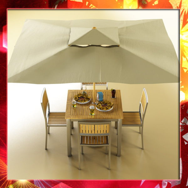 3d bar table chair parasol model