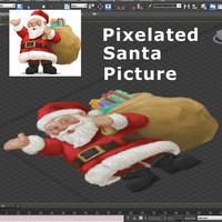 Pixels Santa 01