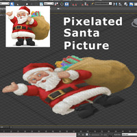 pixelated santa max