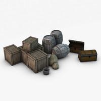 storage props 3d 3ds