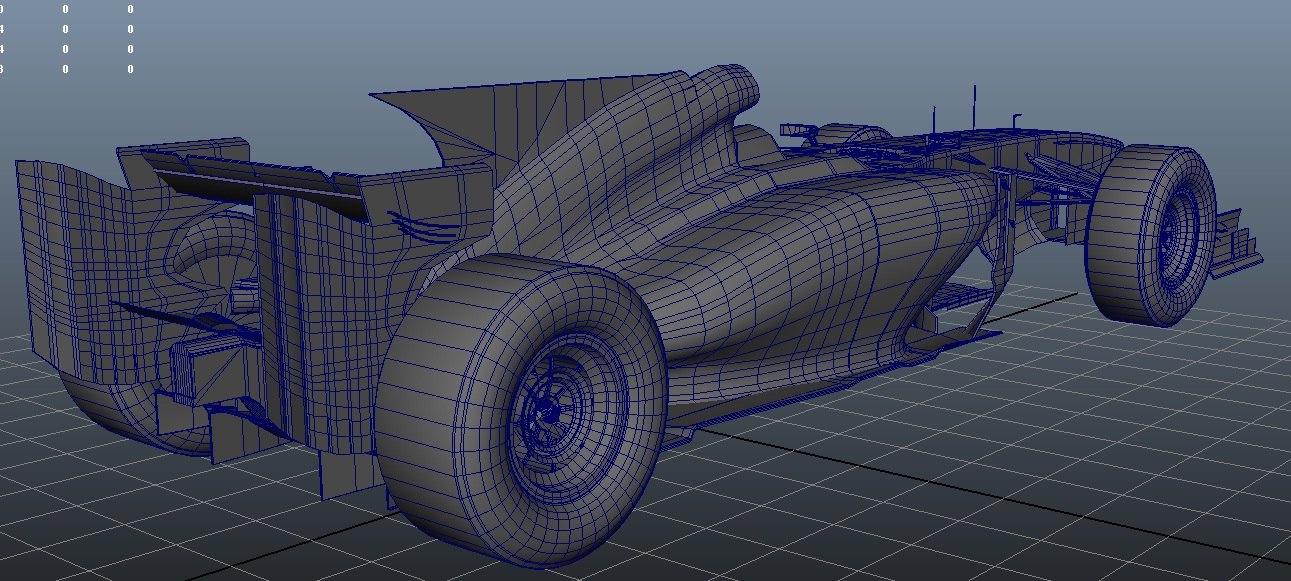 maya formule 1 fantasy car
