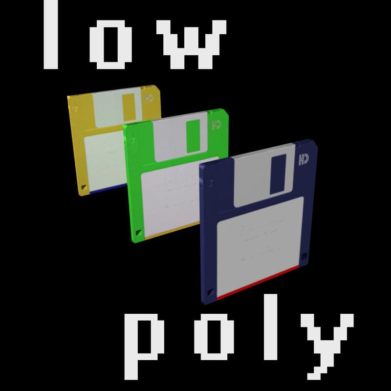 3d obj floppy disk diskette