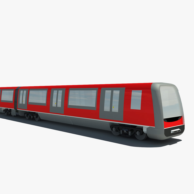 subway train 3d model