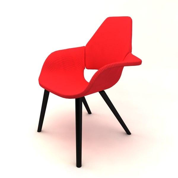 organic chair charles 3d model