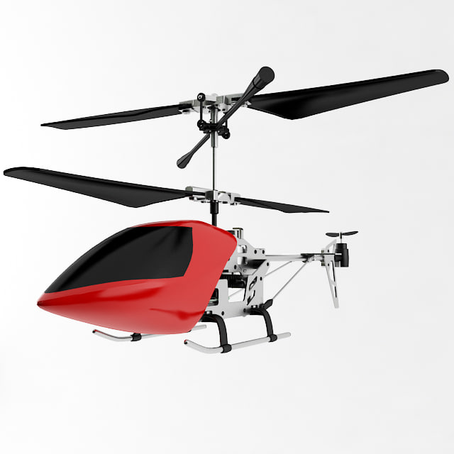 rc helicopter 3d max