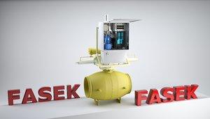 hydraulic ball valve fasek 3d max