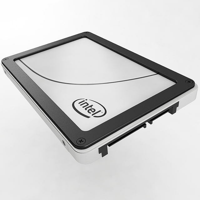 3d model ssd solid state drive