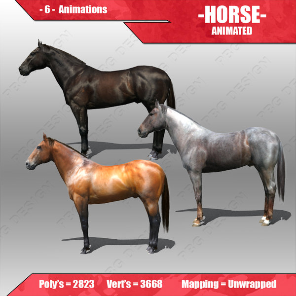 3dsmax horse animations
