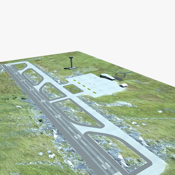 small airport 3d max